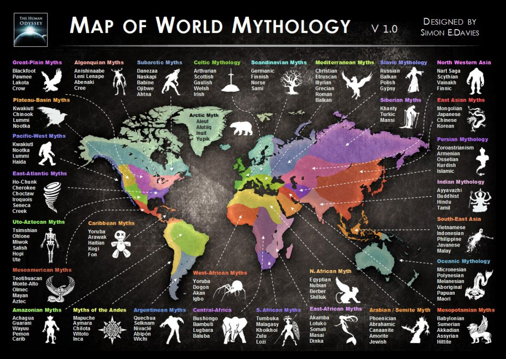 Worldmap of myths
