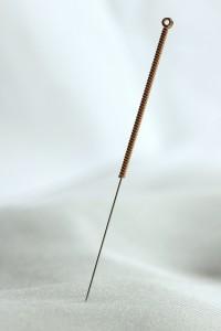 Een acupunctuurnaald. Foto door Acid Pix