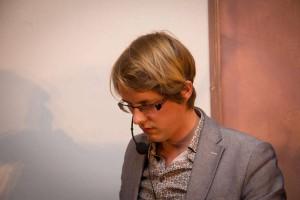 Maarten Boudry op De Nacht van de Vrijdenker (foto: Gerbrich Reynaert)