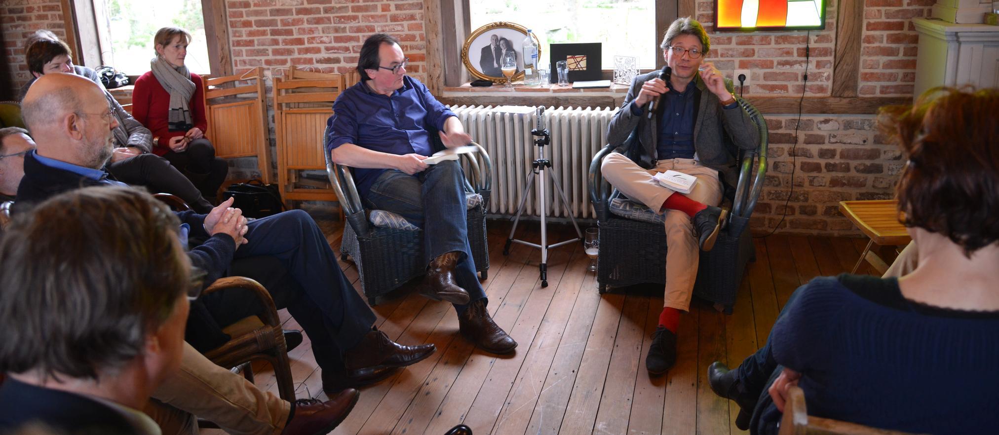 Johan Braeckman in gesprek met Sebastien Valkenberg in De Corridor.