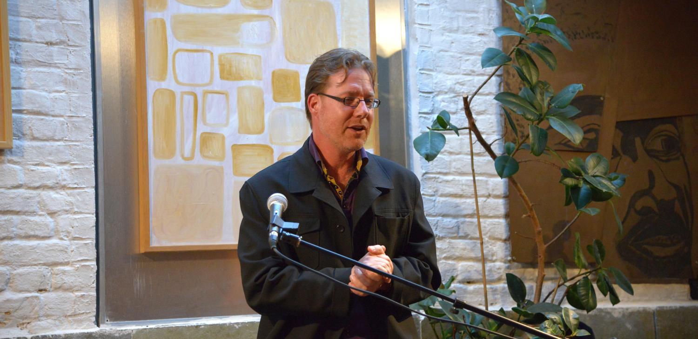 Pepijn Van Erp bij Skeptics In The Pub Gent