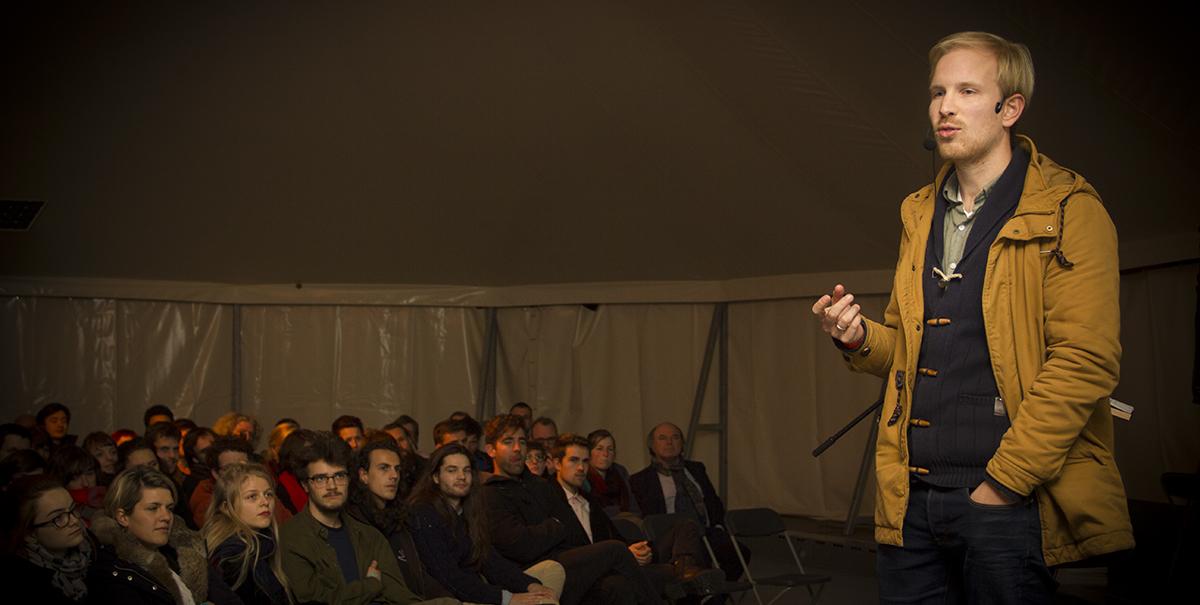 op de nacht van de vrijdenker 2016 in Gent (foto: Gerbrich Reynaert)