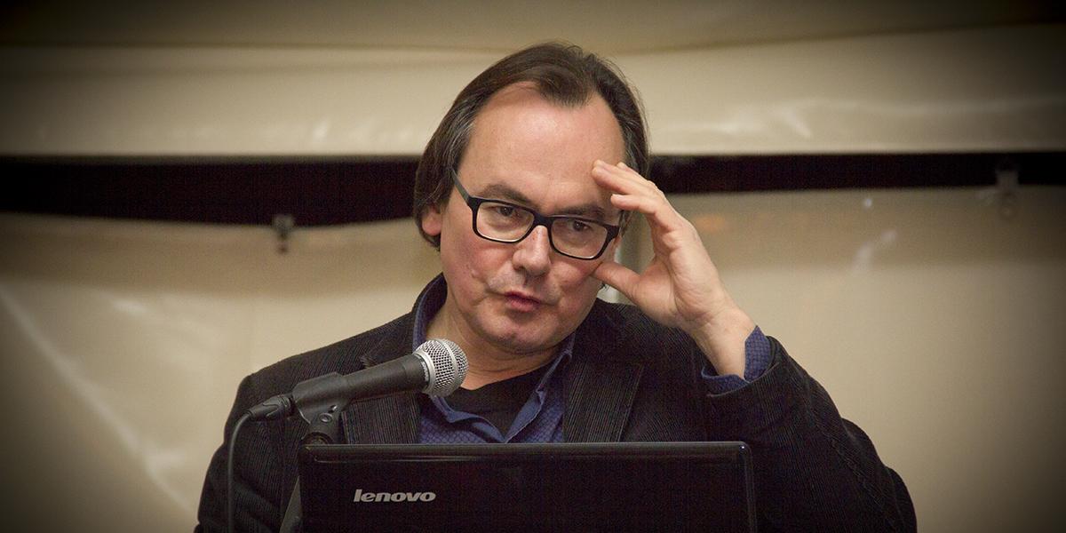 Johan Braeckman op de nacht van de vrijdenker 2016 in Gent (foto: Gerbrich Reynaert)