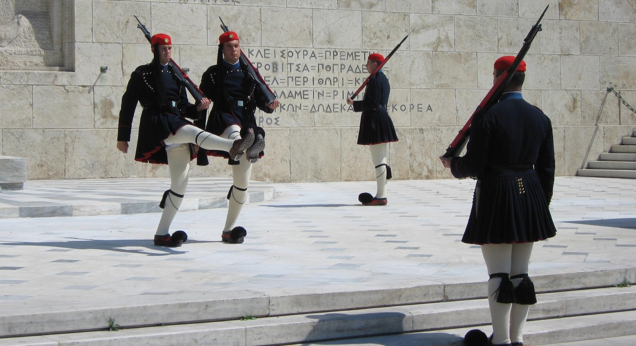 Wissel van de wacht in Athene