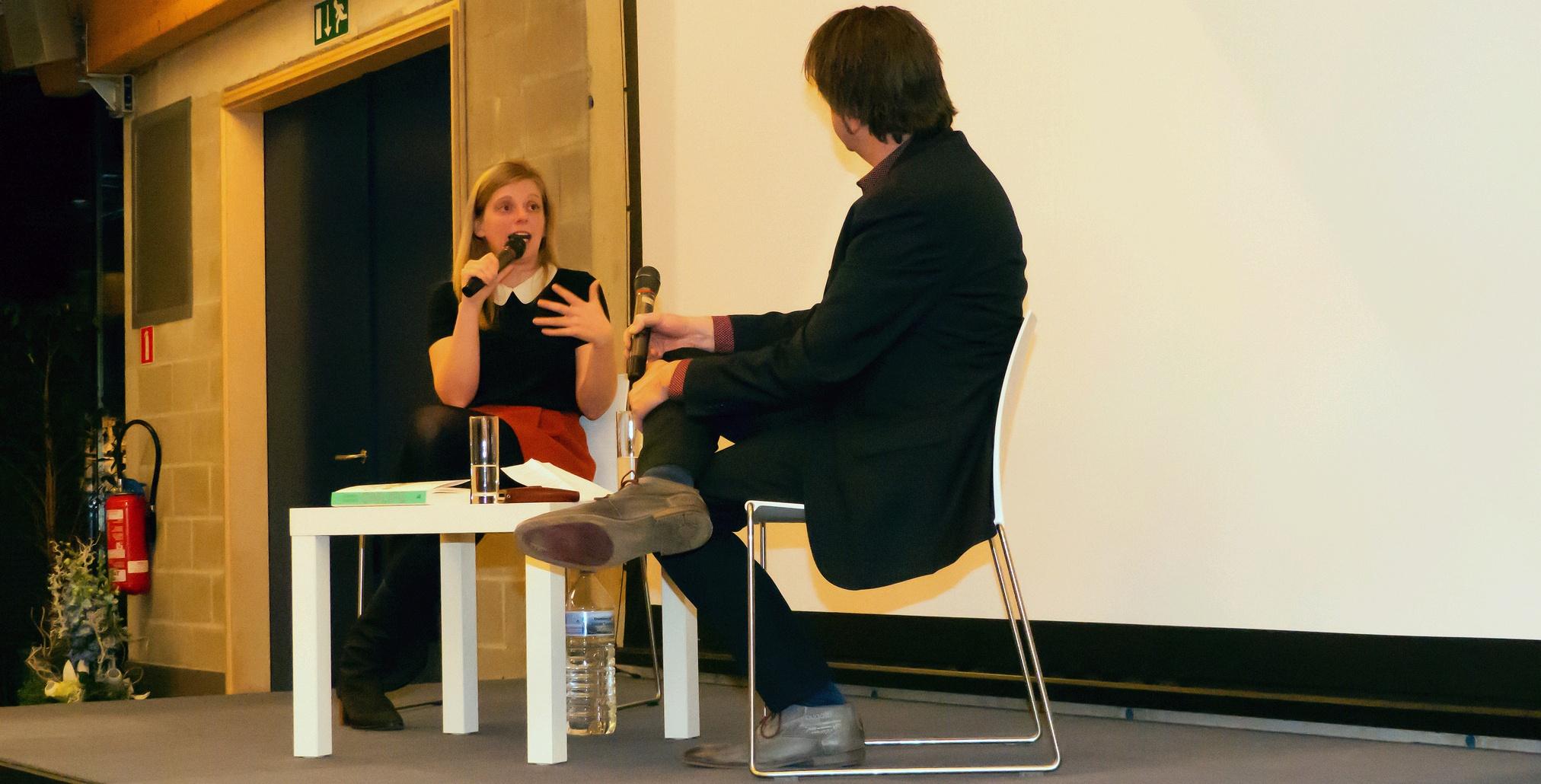 Katleen Gijsels bij Liberales Gent (foto: Jozef Van Giel)