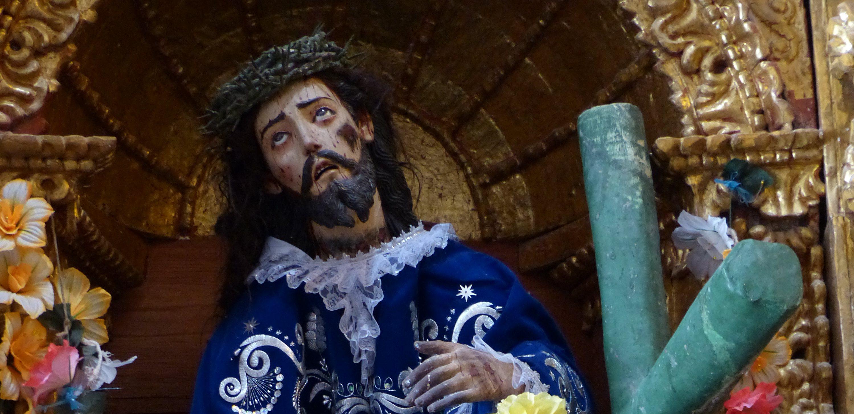 Christusbeeld in een kerk in Colca, Peru. Foto: Jozef Van Giel