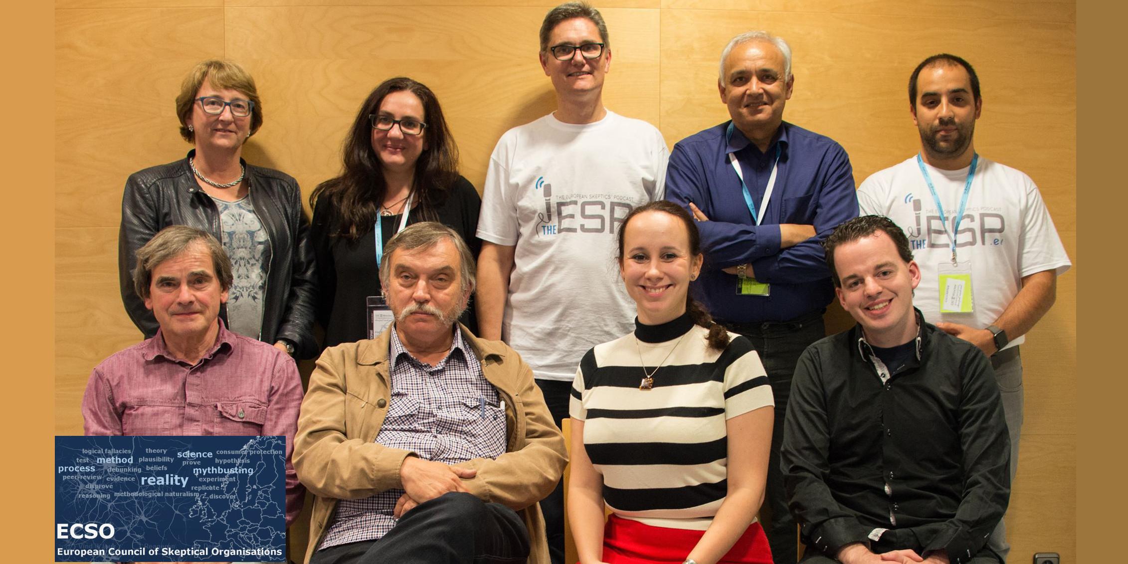 Het nieuwe bestuur van ECSO met Rechtsonder Leon Korteweg