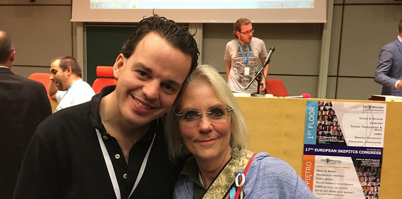 Leon Korteweg en Susan Gerbic