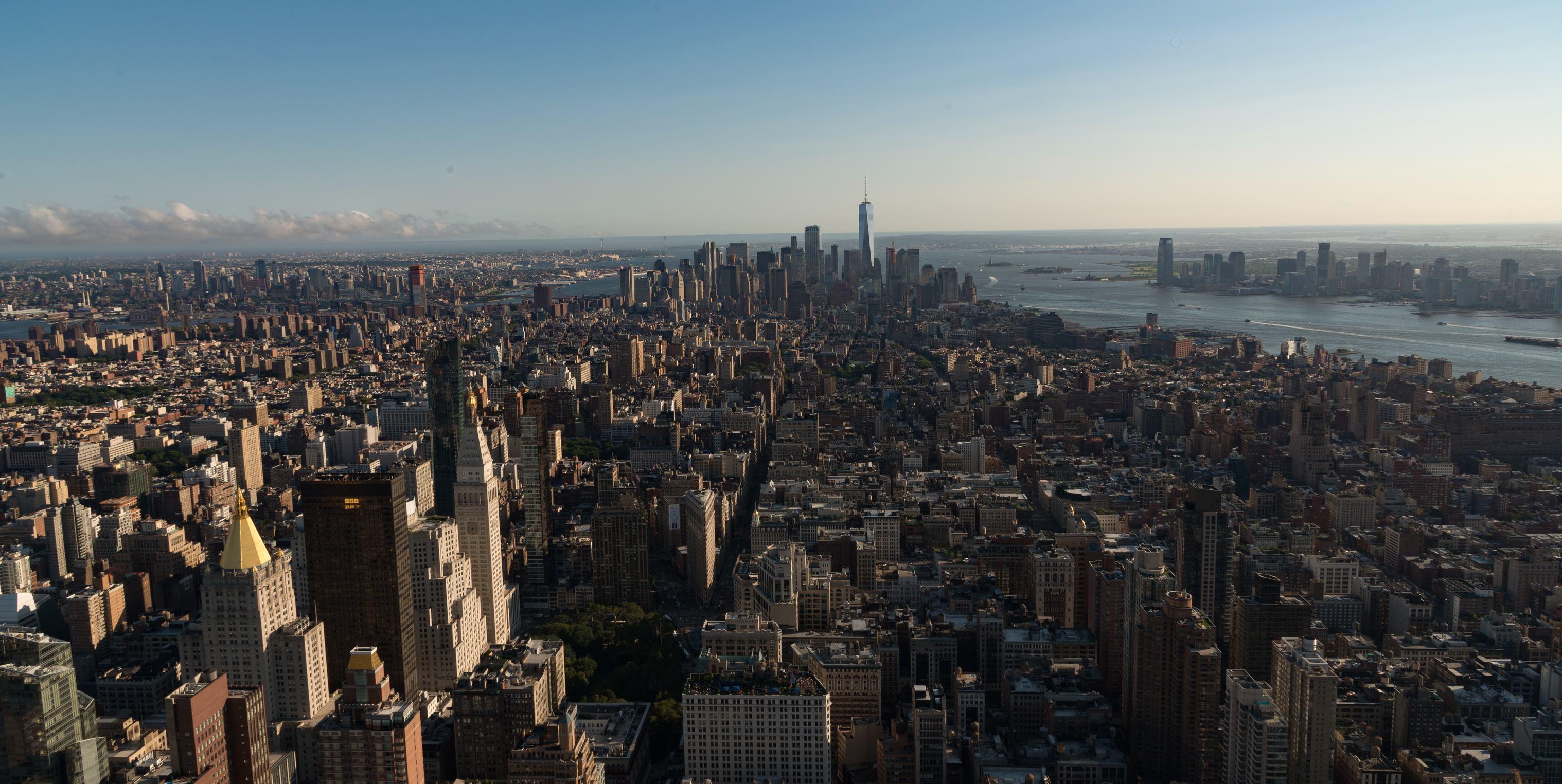 Manhattan vanuit het Empire State Building (foto: Jozef Van Giel)