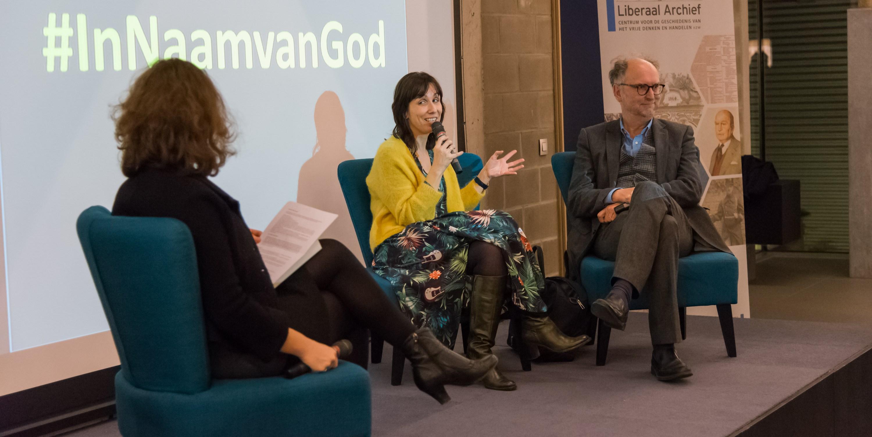 Lisbeth Imbo en Paul Cliteur geïnterviewed door Tinneke Beeckman over het boek Mag God Nog