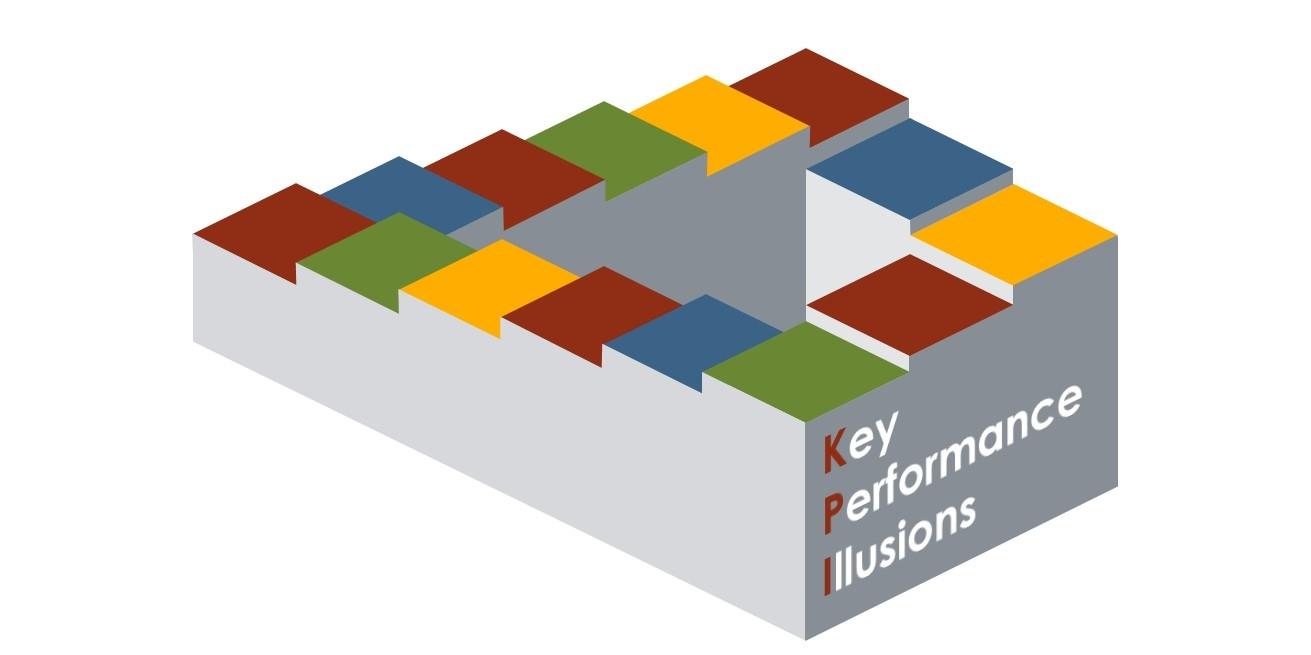 """Cover van het boek """"Key Performance Illusions"""" (Afb. Coen de Bruijn"""