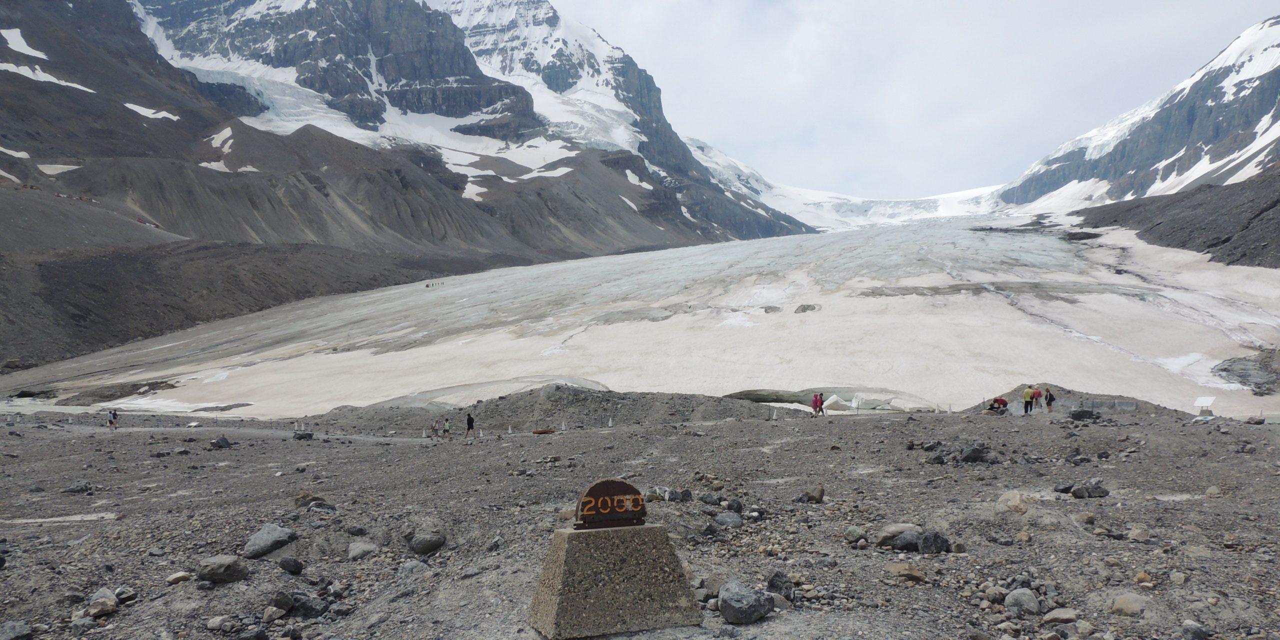 Terugtrekkende gletsjer in Canada (Foto: Jozef Van Giel)